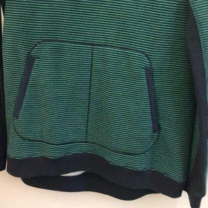 lululemon athletica Tops - Lululemon green & navy cowl neck top sz 6 66323